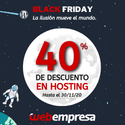 alojamiento wordpress Black Friday 2020